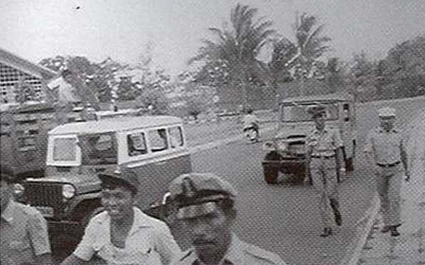 Wadjah dulu Taksi Jamban di jalan depan Benua Patra taoen 1977