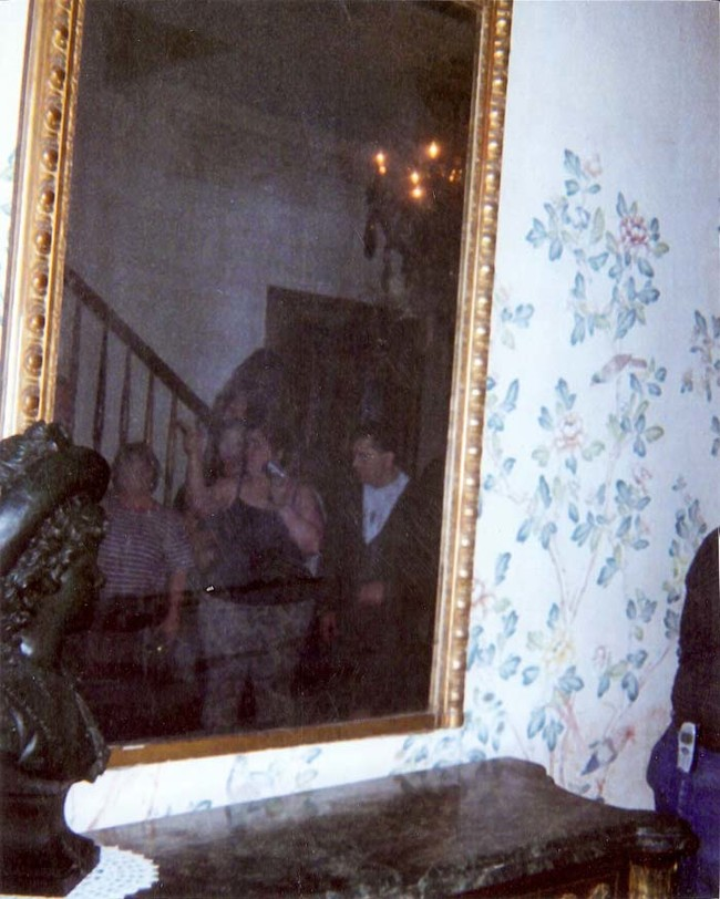 The ghost woman on the staircase.