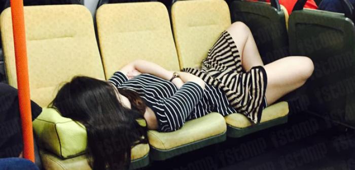 tempat duduk yang dipake tidur