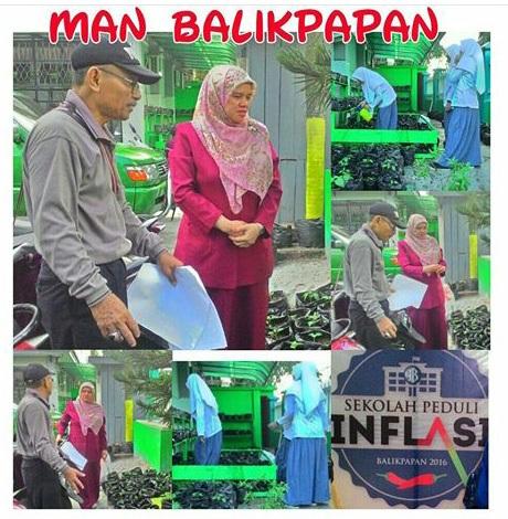 MONITORING: Bank Indonesia saat kunjungan ke MAN Balikpapan.