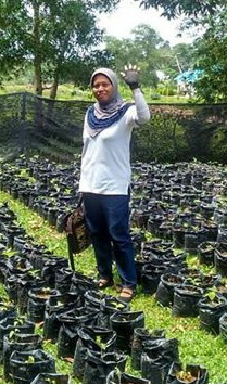 PENDAMPINGAN: Aktivitas Sekolah Peduli Inflasi oleh Bu Aminah di SMA 5.